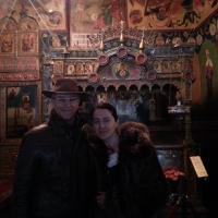 Доктор Жильберт Рено в храме Василия Блаженного